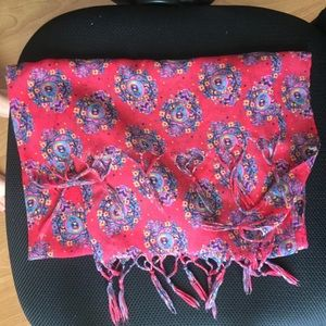 Red Paisley Scarf from Aerie